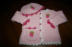 Ravelry: Strawberry Cardigan & Cap pattern by Gayle Bunn