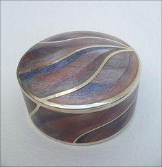 Pink swirl box ~ Tamizan Savill ~ sterling silver and vitreous enamel