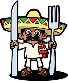 cartoon food: Hungry Mexican Illustration