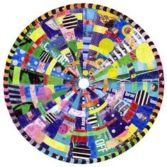 """""""VIRGINIA FLECK  BARGAIN MANDALA  Plastic bags, tape  45"""" diameter"""" It's like a quilt! Recycled art is always a great thing!"""