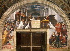 Ватикан, Дворец,Станца ди Элиодоро (1513-1514) Месса. Raffaello Santi (1483-1520)