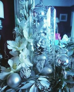 White chtrismas, glass and silver!