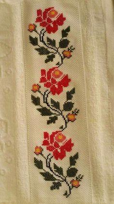 The most beautiful cross-stitch pattern - Knitting, Crochet Love Cross Stitch Letters, Cross Stitch Rose, Cross Stitch Borders, Cross Stitch Flowers, Cross Stitch Designs, Cross Stitching, Cross Stitch Embroidery, Embroidery Patterns, Stitch Patterns