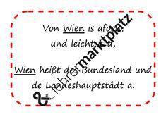 Österreich - G'stanzl - Bundesländer – Unterrichtsmaterial im Fach Musik Innsbruck, Klagenfurt, Bregenz, Linz, Play Based Learning, Teaching Materials, Teachers, Musik