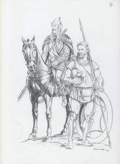 Thracian warriors by Александър Въчков