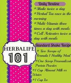 Herbalife 101 The Basics  Visit www.slinkyshakes.wordpress.com