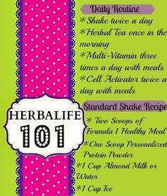 Herbalife 101 The Basics  Visit www.slinkyshakes.wordpress.com