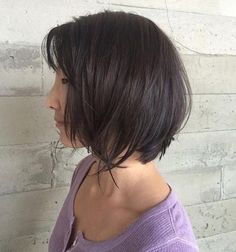 textured bob with bangs