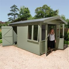 12x8 Ultimate Summerhouse with Rear Storage | Buy Sheds Direct UK