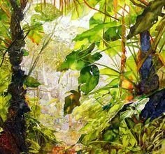 Heleen Cornet, Mount. Scenery (detail) , 2012, aquarel on canvas, 122 x 152 cm.