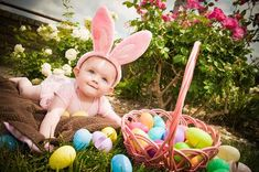 Newborn Pictures, Baby Pictures, Easter Pictures For Babies, Baby Kalender, Holiday Photography, Photography Ideas, Foto Baby, Spring Photos, Holiday Pictures