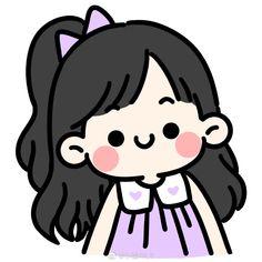 Kawaii Girl Drawings, Cute Drawings, Vintage Cartoon, Cartoon Art, Doodle Girl, Chibi Girl, Dibujos Cute, People Illustration, Cute Doodles