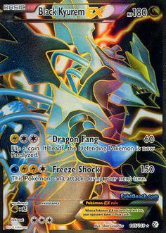 ex pokemon cards | Black Kyurem EX Full Art -- Boundaries Crossed Pokemon Card Review ...