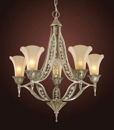 ELK Lighting Lighting 3826-5 Five Light Chandelier With Crystals Embedded