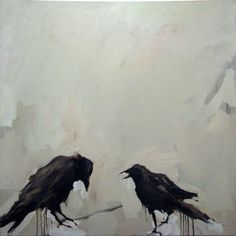 Samantha French, New York artist who paintings underwater swimmers and figurative works. Crow Art, Raven Art, Bird Art, Illustrations, Illustration Art, Crows Drawing, Crows Ravens, Watercolor Bird, Portraits
