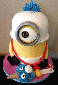 baby minion cake birthday