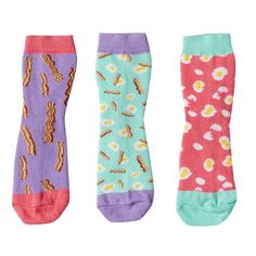 Girls 4-9 Little Miss Matched 3-pk. Scented Anklet Socks, Multicolor