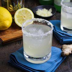 Sparkling Lemongrass Ginger Margaritas