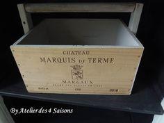 Une seconde vie pour cette caisse á vin transformée en panier .   30 €  .Par l'atelierdes4saisons