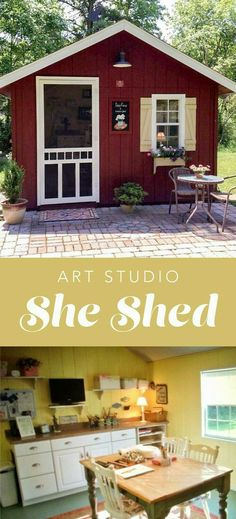 She Shed Art Studio - Donna purchased a Wood-Tex Story a couple years ago. Little by little she created her art studio with her shed! you need a she shed