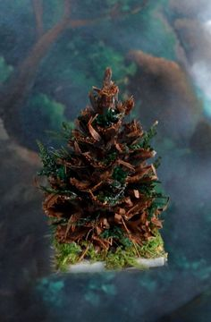 Miniature Pine Cone Fairy Tree for Fairy Gardens Fairy #miniaturefairygardens
