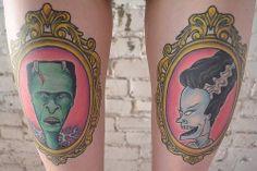 My Beavis & Butt-head / Bride of Frankenstein tattoos (by Matt Dinovo @ Black Squirrel Tattoo)