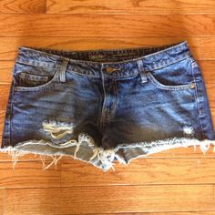 Mossimo Low Rise Distressed Jean Shorts Purchased last summer, worn twice. Offers welcome. Mossimo Shorts Jean Shorts