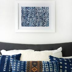 Use a stencil to create a beautiful piece of large scale art, perfect to hang above your bed!