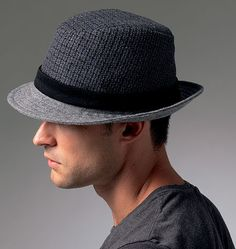 I love that men have started wearing hats again.  I do so love a man in a hat