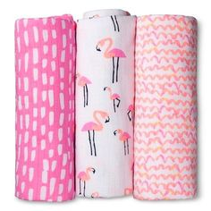 Oh Joy!® 3pk Muslin Swaddle Blanket - Flamingo : Target