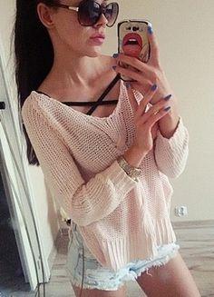 Kup mój przedmiot na #vintedpl http://www.vinted.pl/damska-odziez/swetry-z-dzianiny/12389139-pudrowy-asymetryczny-sweterek-sweter-nowy