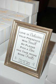 Dessert Table Favor Signage by WeddingPrintsAndSets on Etsy, $15.00