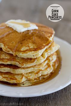 IHOP Corn Cake Pancakes | www.tasteandtellblog.com   #IHOP