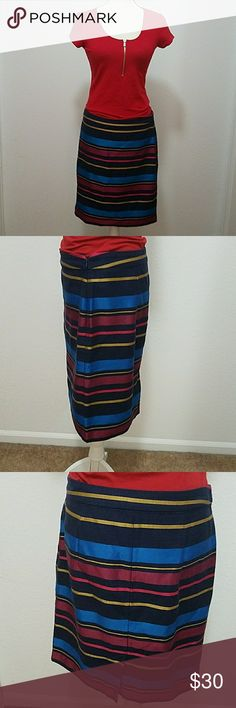 Business skirt EUC, gold accents with blue, navy and red (shirt not included) Tommy Hilfiger Skirts A-Line or Full