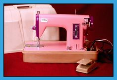 Vintage BROTHER 'TINGLER' Sewing Machine Model #031 Two-Tone HOT PINK & PURPLE!! #Brother
