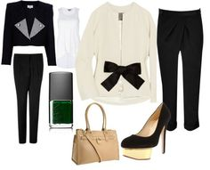 ShopStyle: Fall Black and White by Sheque Style Me, Black And White, Fall, Image, Fashion, Black White, Autumn, Blanco Y Negro, Moda
