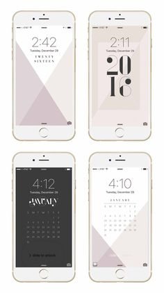 January phone + desktop background wallpapers from May Designs for #iphone and #android!