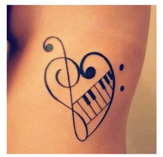 21 Music Tattoo Ideas For Women