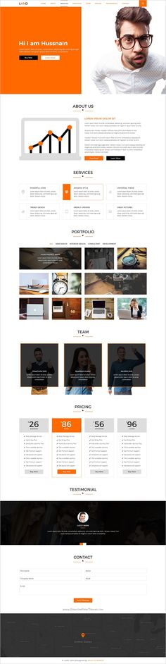 LAND is a Single Page personal Landing Page #Photoshop #Template ideal for creative #studio or for portfolio websites with clean & smooth design download now➩ https://themeforest.net/item/landing-page-portfolio-psd-template/19260846?ref=Datasata