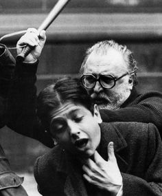 Sergio Leone beating Scott Tiler on the set of Once Upon a Time in America