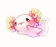 smiles and tears — Lil axolotl pals ✨ Cute Kawaii Animals, Cute Animal Drawings Kawaii, Cute Drawings, Cute Animals To Draw, Pet Anime, Anime Animals, Arte Do Kawaii, Kawaii Art, Axolotl Cute