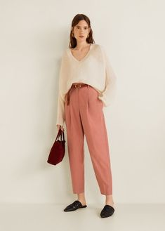 Modal baggy trousers