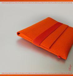Macbook Air felt sleeve 11or 13 inch Mac Book Air ORANGE  original german woolen felt. $69,00, via Etsy.