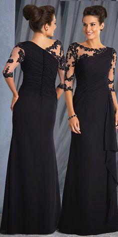 0c4669f601a1  119.99  Chic Tulle   Chiffon Bateau Neckline 3 4 Length Sleeves Sheath
