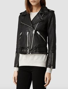 ALL SAINTS - Balfern Leather Biker Jacket £298.00