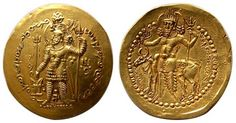 """The contemporary """"Kushano-Sasanian"""" king to the west, in the late 200's, also issued Shaivite coins"""