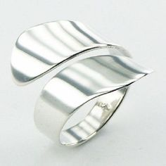 Silver ring 925 sterling handmade Tapering Band Spiral size adjustable fashion