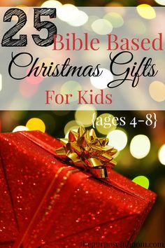 25 Bible based Christmas gift ideas for kids ages 4-8! These gifts won't break the bank, are actually useful and won't add a bunch of clutter! Help your child grow in their faith at Christmas!