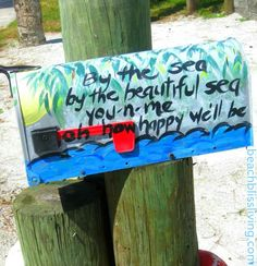 Mail Box with Beach Quote