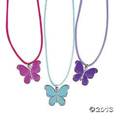 Butterfly Necklaces - good for goodie bags